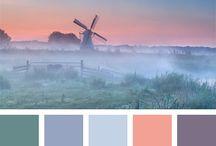 Kleurenpalet  / Prachtige nuanes...zoals warme- en pastelkleuren. Voorbeelden om te gebruiken bij kleuren voor volwassenen.