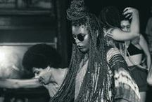 inspirações tranças and afro / Inspirações de negrXs com cabelos trançados