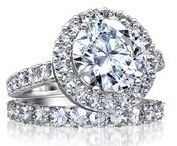 Cluster Engagement Rings / The display of light in this engagement ring collection is truly captivating.