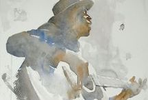 Watercolor by Others / Watercolors that catch my attention, past and contemporary, masters and casual painters...I love to see the diversity in the medium.