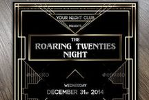 Art Deco business cards & flyers / Roaring Twenties, the era of luxury and glamour!