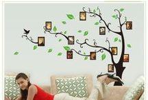 Pegatinas decorativas portafotos o fotomurales. / Aquí encontrará una selección de stickers decorativos o pegatinas de pared para realizar fotomurales propios. Con estas pegatinas podrá convertir cualquier rincón en un espacio propio e íntimo.