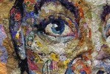 fabric pictures, textile Bilder / Textilkunst