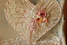 Lapač snů / Romantické krajkové lapače snů ve stylu shabby chic