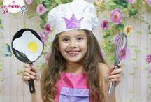 Fantasias para crianças / Ideias de fantasias para crianças, para usar no carnaval ou em festas a fantasia em geral. Fantasia Turma da Monica, cozinheira, Minnie, Princesa Ive, Princesa Leya