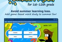 Preventing Summer Slide & Summer Learning Loss by ELLs / Resources and ideas for helping English Language Learners avoid summer learning loss or summer slide, and articles and info about summer programs for ELLs.