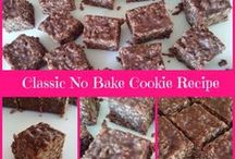 """No Bake Cookies / Technically not a """"cookie"""" because it's not baked, let's still call these treats cookies! More on no-bake cookies and all kinds of easy no-bake cookie recipes: http://www.cookie-elf.com/no-bake-cookies.html"""