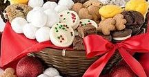 Christmas Cookie Gift Baskets / Make your own cookie gift baskets. How-to's here: http://www.cookie-elf.com/cookie-gift-baskets.html