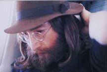 John Lennon / Inspiration for our John Lennon organic artwear and earth friendly accessories and home objects.