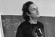 """Richard Feynman / Inspiration for Rooftop's """"Richard Feynman"""" organic t-shirts, accessories and home objects."""