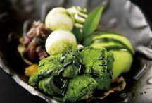 抹茶 / Matcha (green tea) sweets.
