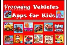 Vrooming Vehicles Apps for Kids / Got a truck-loving tot or a construction site fan? Here are the apps for you, curated by www.TechwithKids.com, a digital magazine that reviews kids' apps. http://www.techwithkids.com/List_12_vrooming-vehicles-apps-for-kids