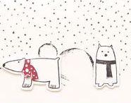Christmas illustration style