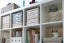 Organization for the Home / Inspiration for organizing the home and garage.