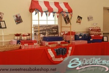 Vintage Baseball Baby Shower / Vintage Baseball themed Baby Shower styled by Sweetness Bakeshop in Miami, FL