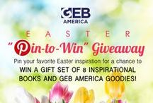 "Pin-To-Win Easter Giveaway / What's inspiring you this Easter? Pin your favorite Easter inspiration (quotes, crafts, recipes, etc.) to our Easter ""Pin-to-Win"" community board for a chance to win a basket of Easter goodies!  / by GEB America"