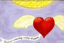 Quotes and Soul whispers of Flying Heart Art / These are original paintings I created that contain messages encouraging people to follow their heart! I hope my artwork inspires you to hear the whispers from your Soul....