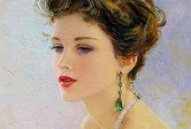 Peintures et fleurs pour Dames / Dessins et peintures de femmes