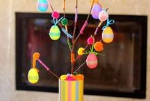 Easter DIY and Decor / Easter is more than just colored eggs and peep marshmallows, but those things sure do make our list of favorites! Our collection of the best Easter DIY, decor, crafts and games.