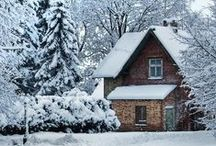 A Winter Home / A place to snuggle in, warm and safe.