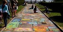 ART street chalk / Inspiration for chalk drawings and creations that we can do too! Let's help uplift the world, one sidewalk at a time.