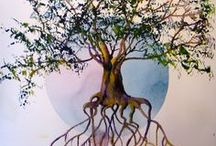 Flowers, trees Art