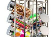 Creative Organizing Ideas / Cool ways to get (and stay) organized - everywhere!