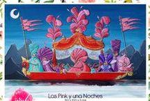Las Pink y una noches / Colección de Obra pictórica realizada por el artista plástico Andrés Fernández