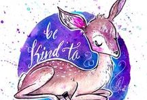 My Positive Art / A collection of my positive ink and watercolor doodles! :)