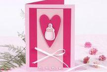 Vauvakortit / Ideoita vauvaonnittelu- sekä kastekutsukortteihin. Tarvikkeet ja ideat Sinellistä!