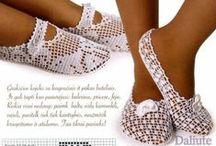 Вязка обувь (носки, туфли)