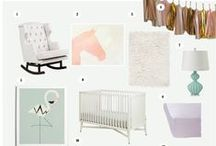 Glam Nurseries / Forget cute, these nurseries and accessories bring the glam! #art #gold #modern