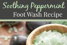 DIY foot care recipes & tips | DIY voetenverzorging recepten & tips / Natuurlijke voetverzorging doe het zelf recepten | natural foot care recipes