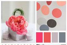 Wedding Color Schemes / Color pairings galore!