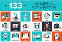 Icons / Graphic Design, Icons, Vectors
