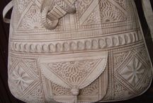intricate textile&leather&embroidery