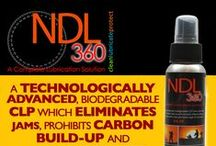 NDL360 CLP / NDL 360 CLP is a technologically advanced, biodegradable CLP which elimanates malfunctions, prohibits carbon build-up and corrosion, reduces clean-up time and protects with a near permanent layer of lubrication using nano diamond technology. NDL stands for ultra-dispersed diamonds (nano diamonds). Nano-diamonds are the active ingredients in NDL360. Only slightly wider ten human DNA.