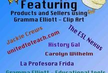 Featuring Products Containing Gramma Elliott's Clip Art / All these Free and Priced Educational PRODUCTS THAT CONTAIN CLIP ART BY GRAMMA ELLIOTT.  If you use my clip art in your products and would like to pin your educational products here, follow this board. Write me at GrammaElliottCreations@gmail.com to request an invitation. Visit my clip art store at https://www.teacherspayteachers.com/Store/Gramma-Elliott-Clip-Art   / by Gramma Elliott - Educational Tools and Clip Art