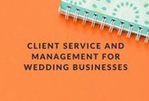 Client Service and Management for Wedding Businesses / WeddingIQ.com blog content on successfully managing and servicing clients in your wedding business. These posts are applicable to all types of wedding vendors, and offer advice on creating the best experience possible for your wedding clients while keeping your sanity. Customer service, communication, boundary setting and more are among the issues covered.