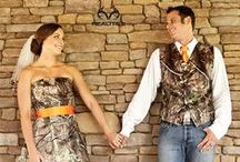 Camo Weddings / A wedding doesn't have to be traditional. Share your love for the outdoors with the one you love!