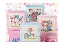 CROSS  STITCH - MINIATURES & BOOKMARKS  & CARDS
