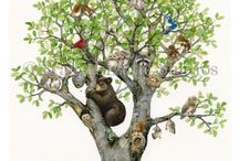 Animal Tree Collection / Find all your favorite woodland animals, birds, and owls in this fun watercolor collection!