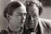 Painters | Frida & Diego / Frida Kahlo (6 juillet 1907 - 13 juillet 1954) est une artiste peintre mexicaine. / by véro B.