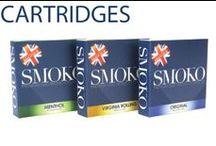 ELECTRONIC CIGARETTE CARTRIDGES / Refill cartridges for SMOKO e cigarettes