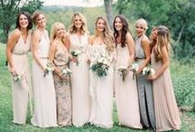 Bridesmaids / long. summery. not too formal, not too casual. neutral colors (cream, champagne, taupe, light pattern). unique textures, details, and patterns. / by Hannah Rogers