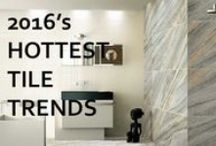 2016 Interior Design Trends / Interior design trends for 2016 which include a variety of tile styles and finishes.