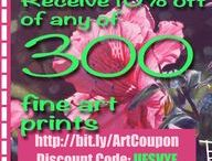Coupon Codes / Discount Coupon Code for any of my art on pixels.com valid until the end of 2017.