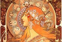 Alfons Mucha and NoveauArt Inspirations ♥♥ / Art by Alfons Mucha and Illustrations in the art nouveau style.  / by Trudy G
