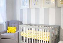 Baby room / Sugestões de decoração do quarto do bebê. O tema será em amarelo e cinza com muitas corujas, que simbolizam a sabedoria e inteligência.