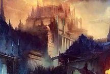 monde fantasy paysage / fée fantasy et autre monde merveilleux